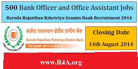 Baroda Rajasthan Kshetriya Gramin Bank Recruitment 2014