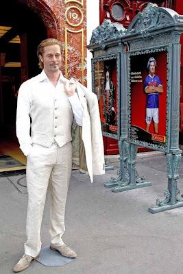 Brad Pitt's Wax Statue Of Paris 2011