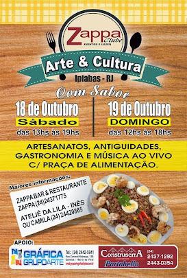 Ponto turístico - Arte e Cultura com sabor com diversos artesãos em Ipiabas no Zappa Clube.