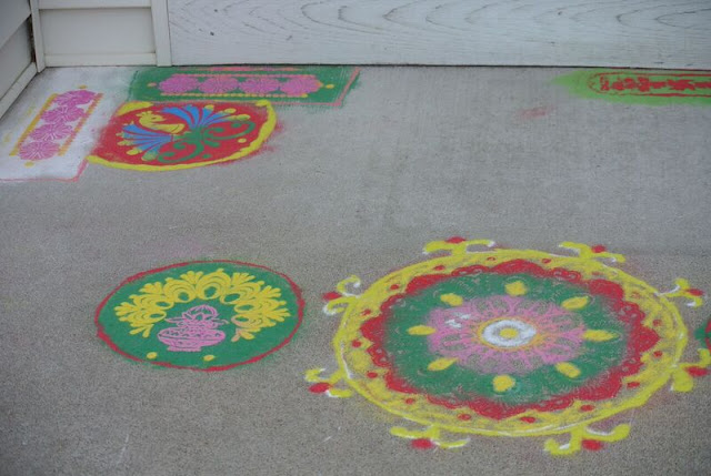 Porch with Rangoli