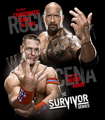 john cena y the rock forman parte del poster para survivor series 2011
