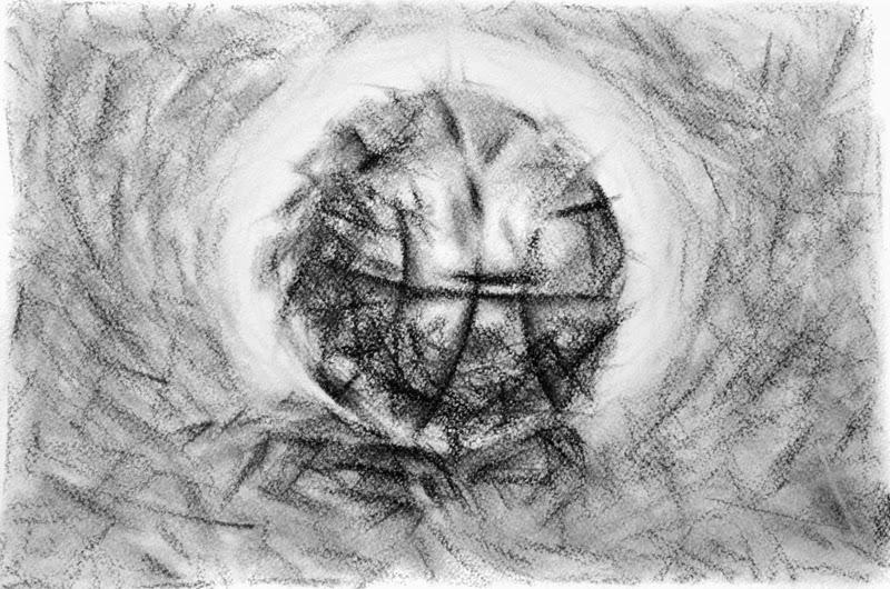 A few strokes of basketball.  Artist E. Gwasileus