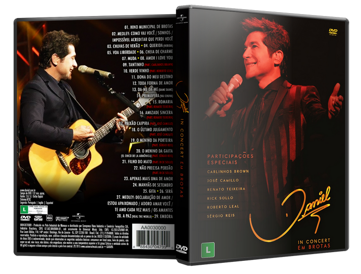 Download Daniel In Concert Brotas DVD-R daniel 2Bdvd