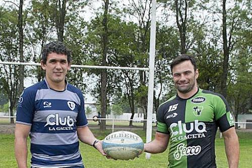 . Lucas Barrera Oro y Sebastián Ponce, capitanes de Universitario y Tucumán Rugby respectivamente