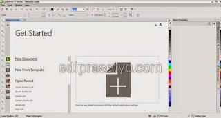 Tutorial Desain Grafis Cara membuat Dokumen Baru di Coreldraw