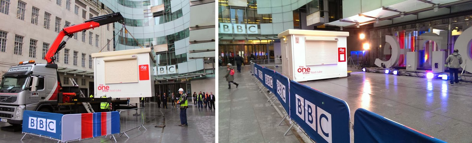 PKL Food Cube installation on The One Show