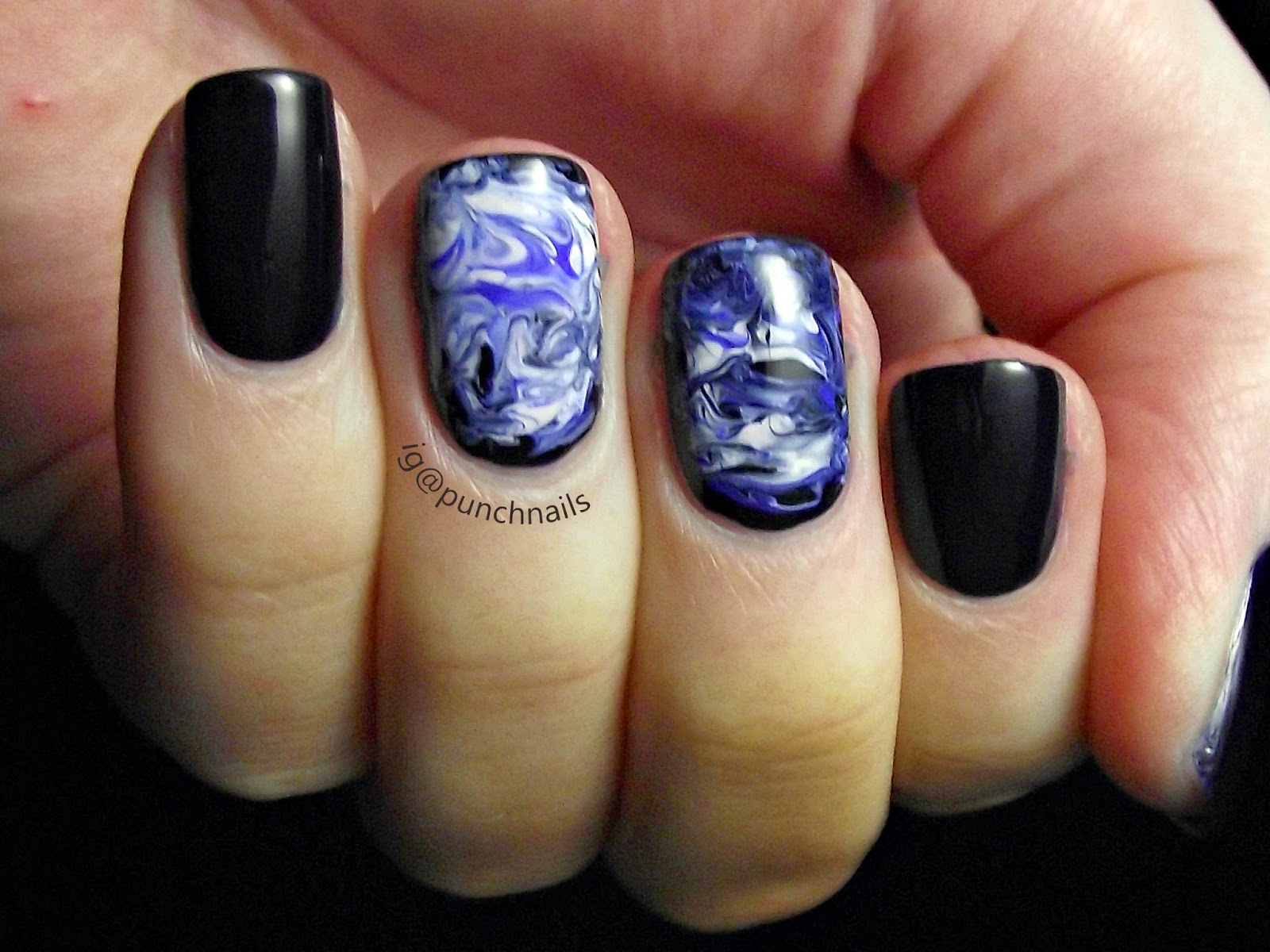 Punch Nails Dry Marble Nail Art Inspired By