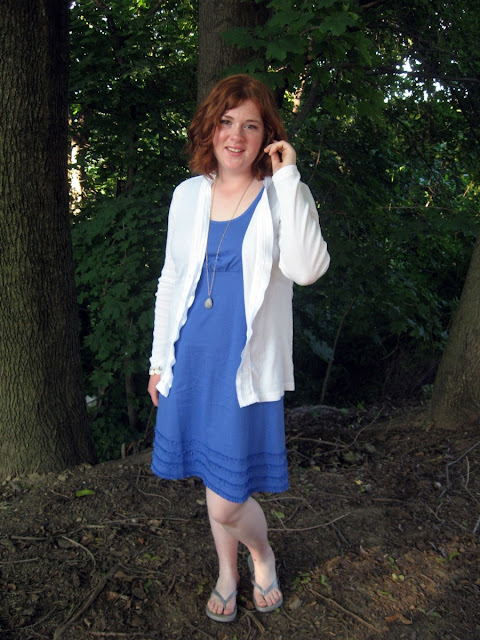 outfit of the day blue dress
