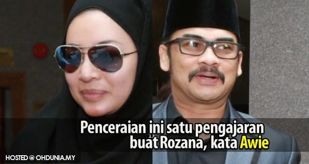 Penceraian untuk pengajaran kepada Rozana, supaya dia bertaubat !..