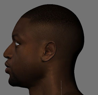 NBA 2K13 Dwyane Wade HD Cyber Face Modding