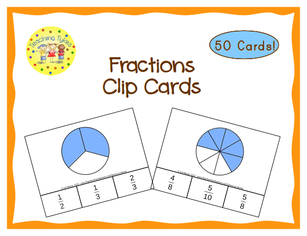 http://www.teacherspayteachers.com/Product/Fractions-Clip-Cards-Common-Core-Aligned-1007117