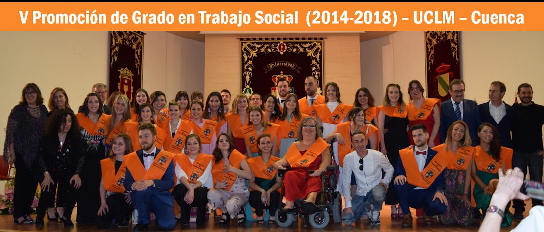 V Promoción de Grado en Trabajo Social. 2012-2016