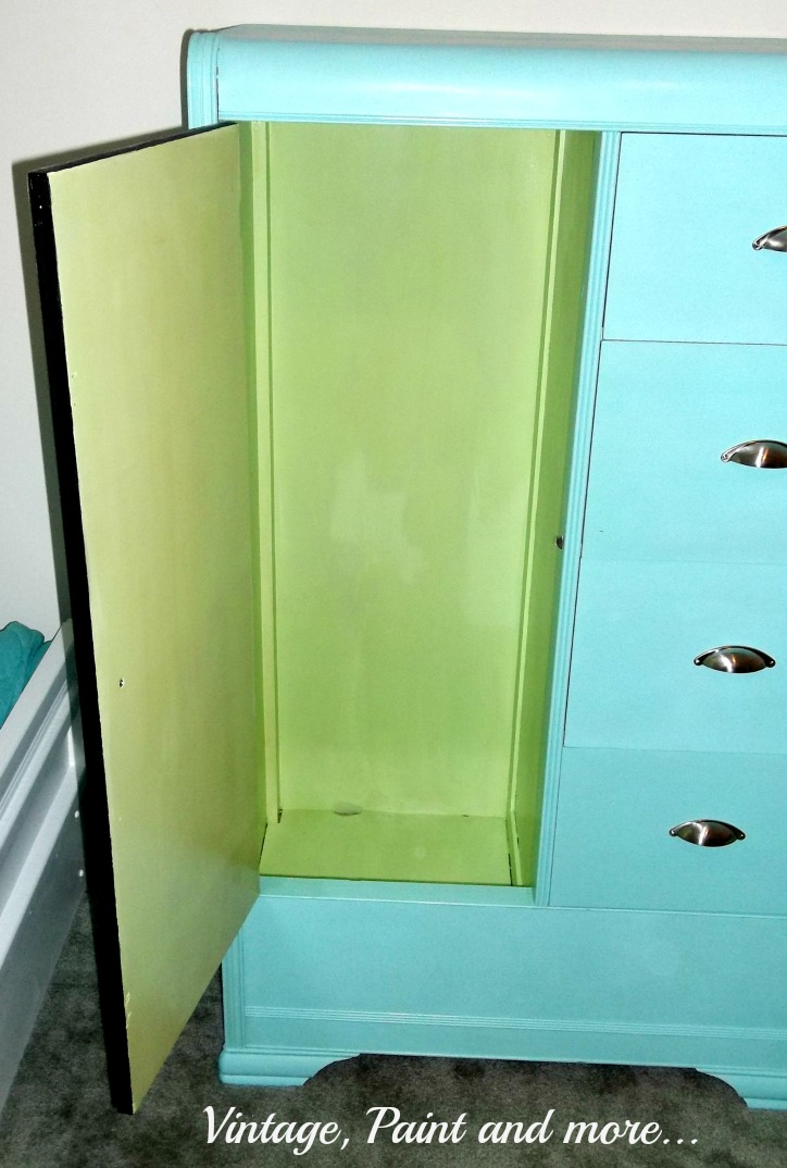 Vintage, Paint and more... thrifted armoir painted with chalk paint for a retro look