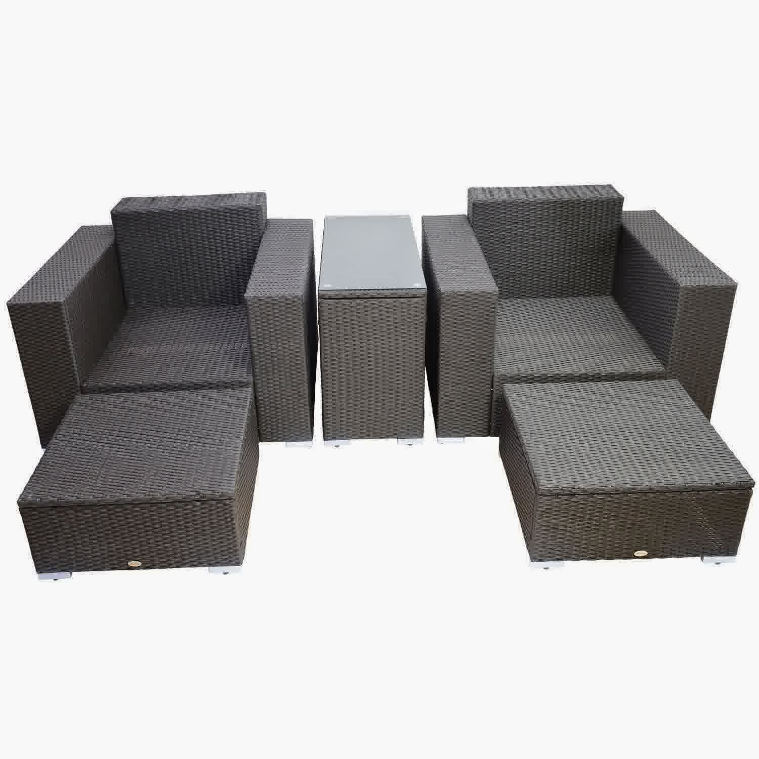 Discount Until 60% Outsunny 5pc Outdoor PE Rattan Wicker