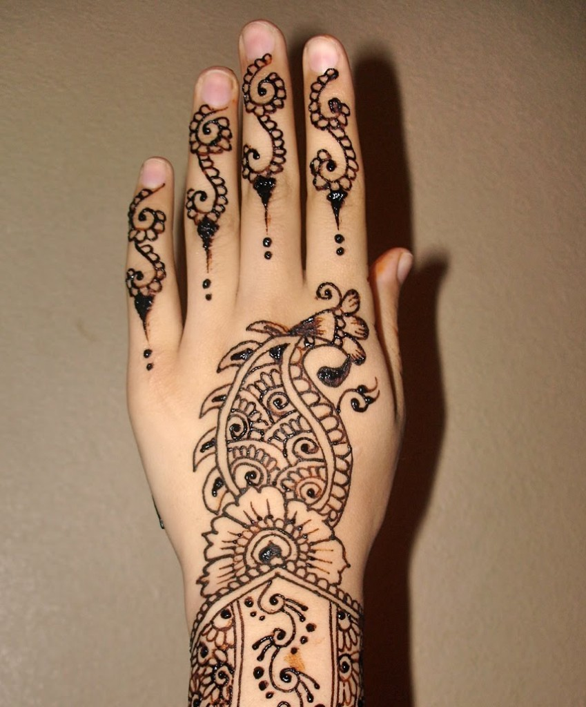 Images Of Henna Mehndi : Mehndi designs for hands arabic henna