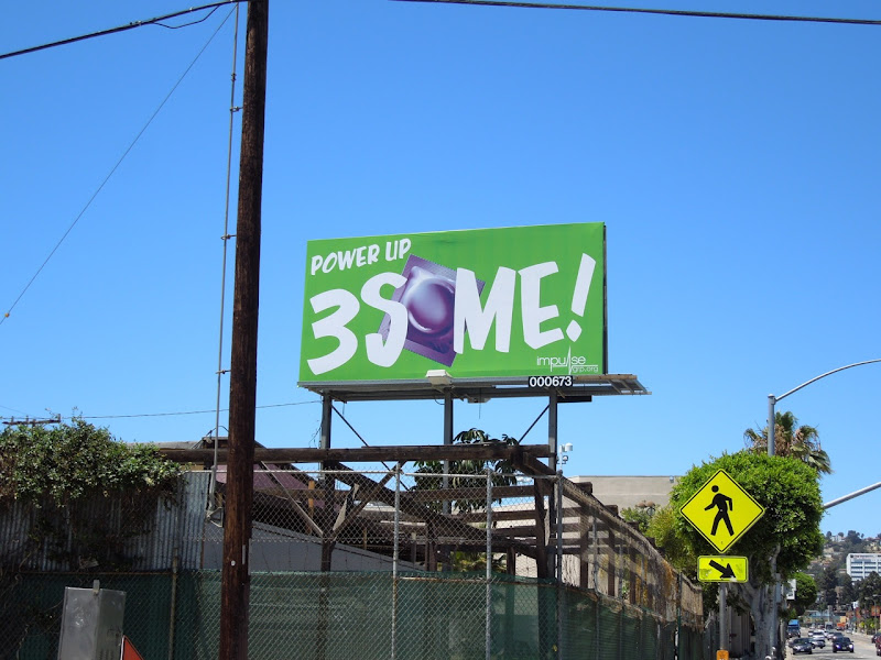 3Some condom billboard