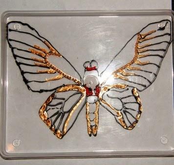 Витраж бабочки своими руками
