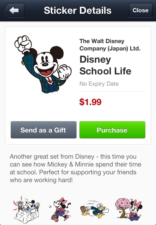 Disney school life line stickers