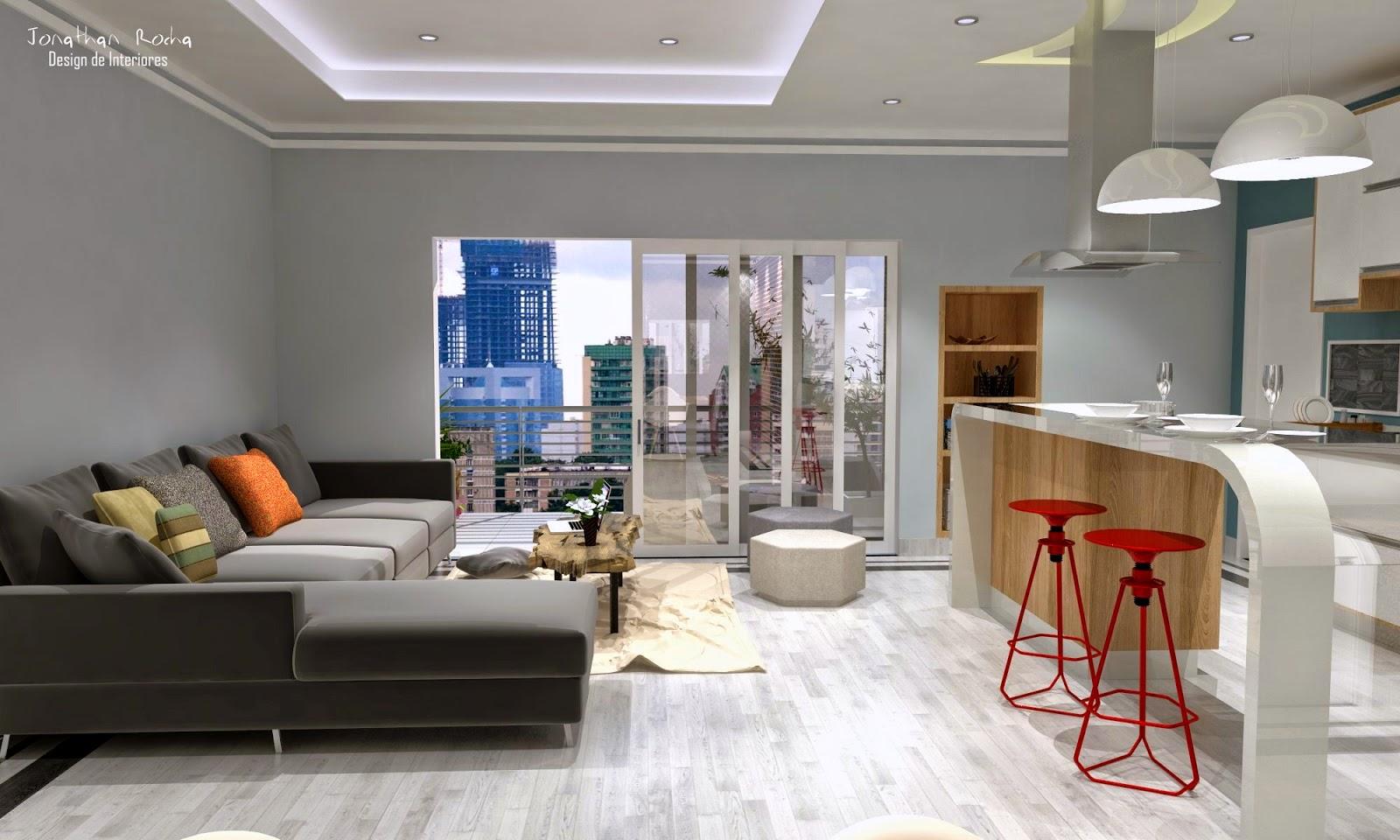 Jonathan Rocha Design De Interiores Cozinha Americana Com Sala De