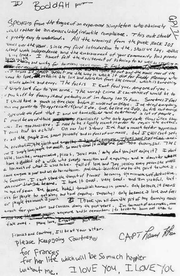 Kurt Cobain's Letter