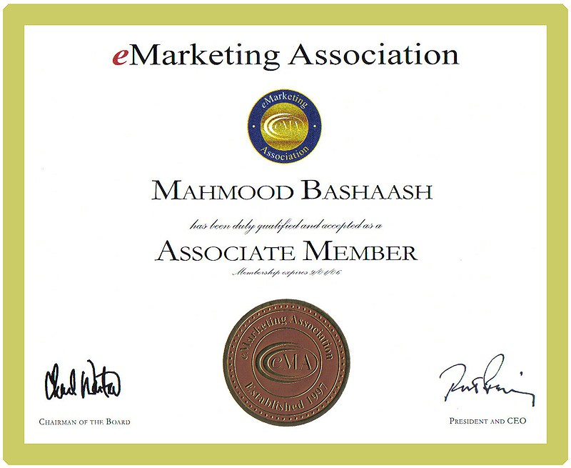 Professional Certification Business Online Marketing