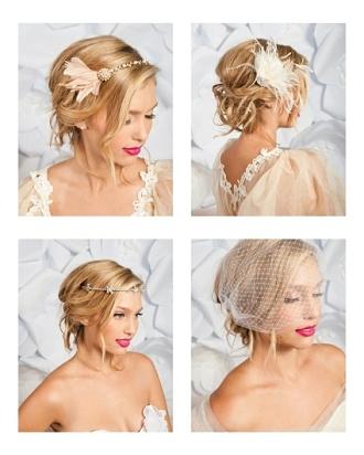 Bohem romantik doğal gelin saç modelleri 2012 2013