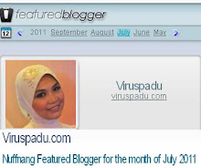 Nuffnang Featured Blogger for Month of July 2011