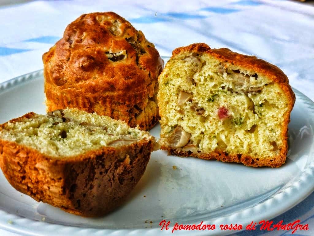e poi...ancora Muffins salati con funghi e prosciutto