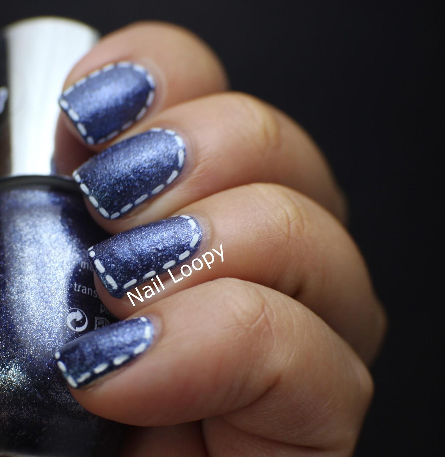 Nail Loopy Essence Denim Effect Jeans Nail Art