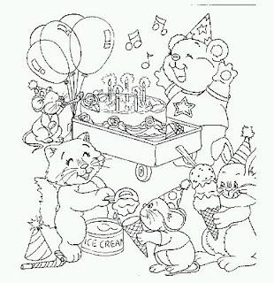Dibujos de Cumpleaños para Pintar, parte 4