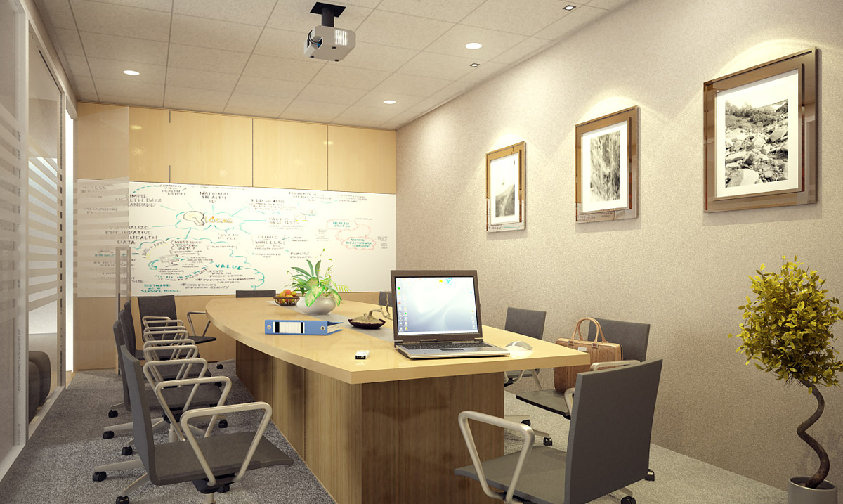 Interior design and furnishing for office interior design for Meeting room interior design ideas