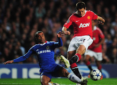 Man Utd champions league quarter finals Javier hernandez