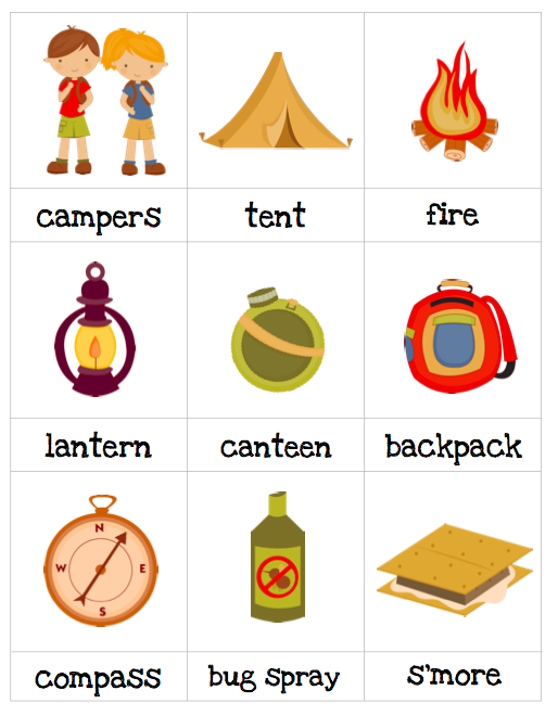 Camping Worksheets For Preschoolers : Autism tank resource for thematic worksheets