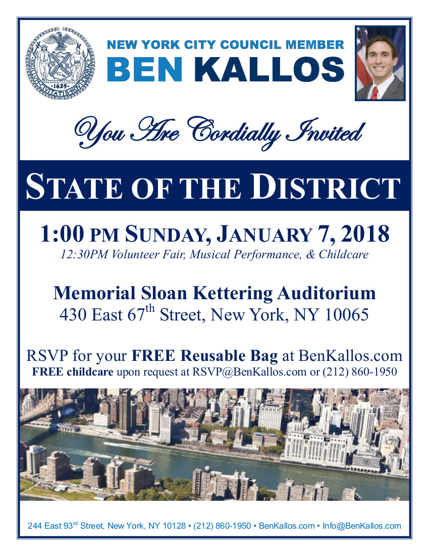 NYC Council Member Ben Kallos State Of The District