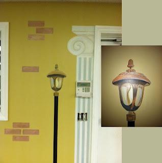 lantern in mural