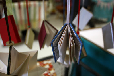 Handmade book Christmas ornament