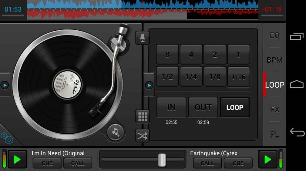 Antarmuka DJ Studio 5 android