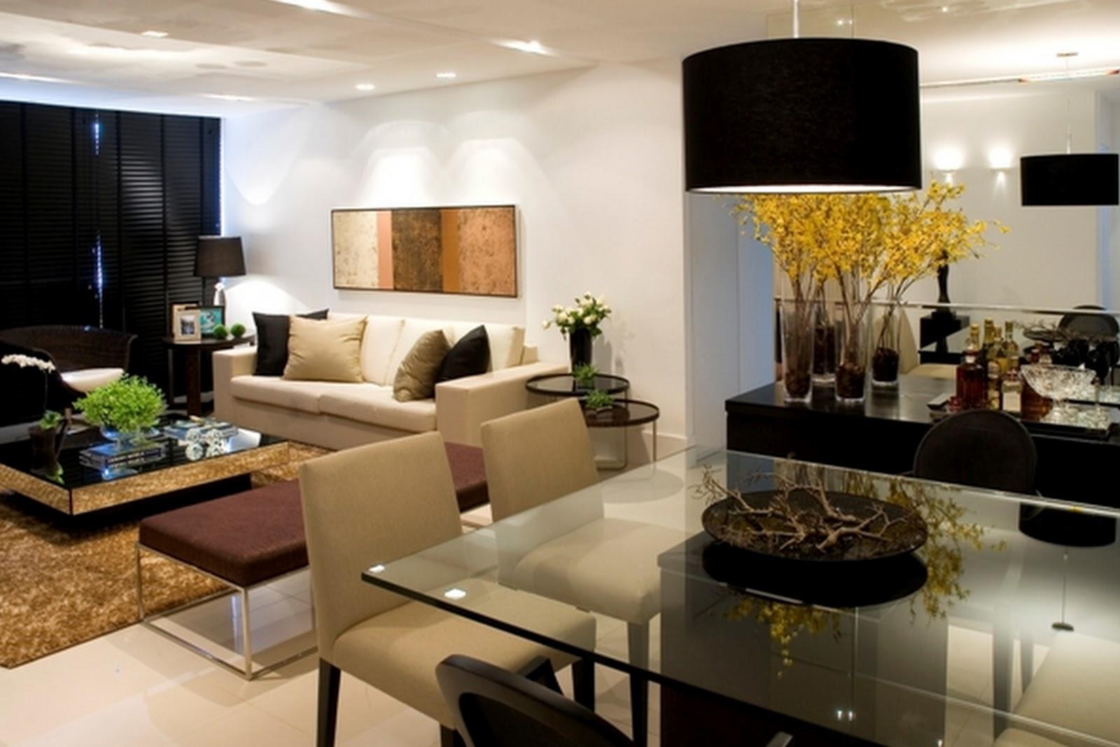 Toques e retoques uma sala e dois ambientes for Fotos salas modernas