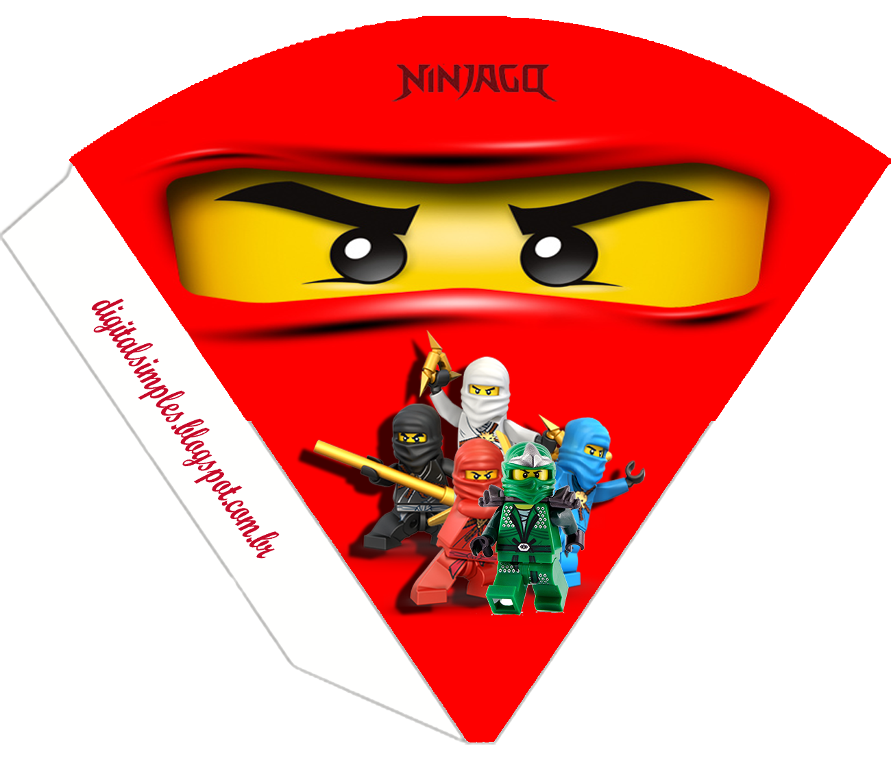 Lego Ninjago Invitations with awesome invitations design