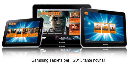 Tanti nuovi tablet da 8, 7 e 11 pollici della seria Galaxy Tab e Nexus in arrivo da Samsung per il 2013