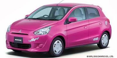 Mitsubishi Mirage versi Hello Kitty