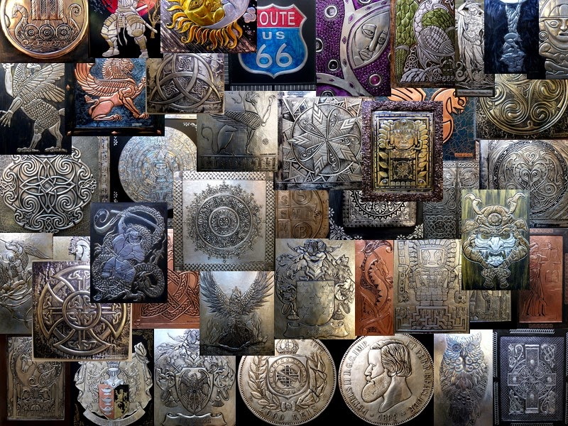 Arte Relevo em Metal