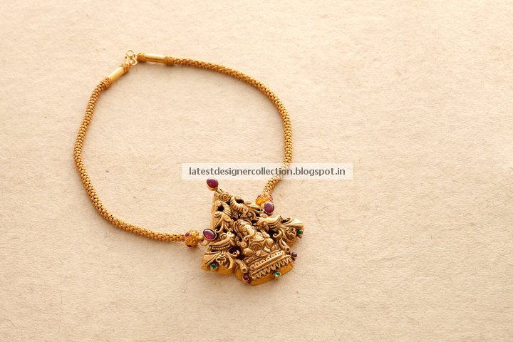 Gold Jewellery Necklaces Antique Gold Short Necklace