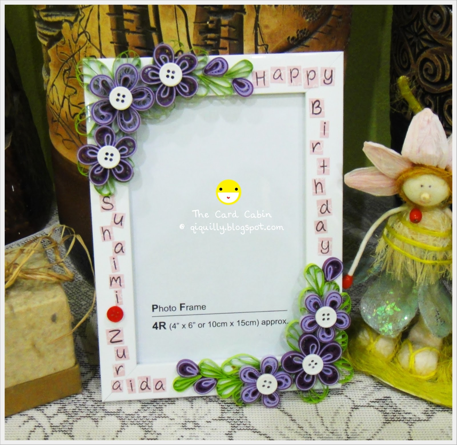 The Card Cabin by Qi Quilly: Happy Birthday Frame #4