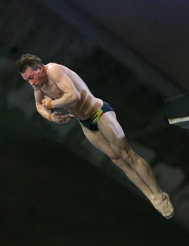 Olympic diver Matthew Mitcham of Australia