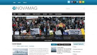 Download NovaMag Blogger Template