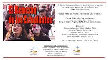 FORO PANEL: ¿QUE PASA EN CHILE?, RAICES DE UNA CRISIS
