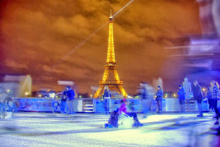 Skating by the Eiffel Tower