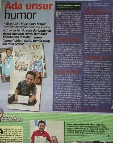 Blogger Remaja, Berita Harian