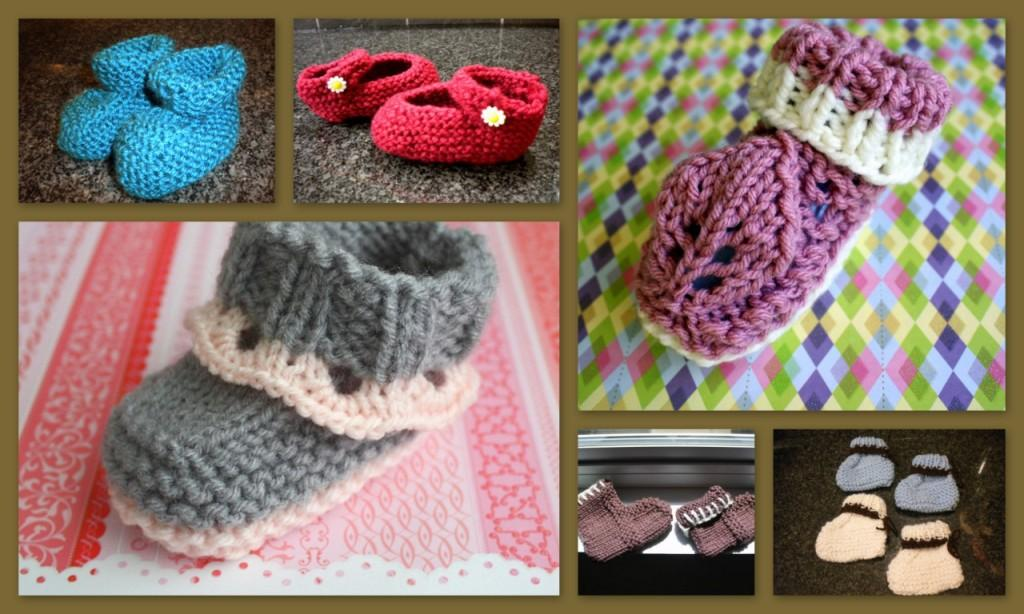 The Createry Shop Easy Baby Booties Knit On Straight Needles